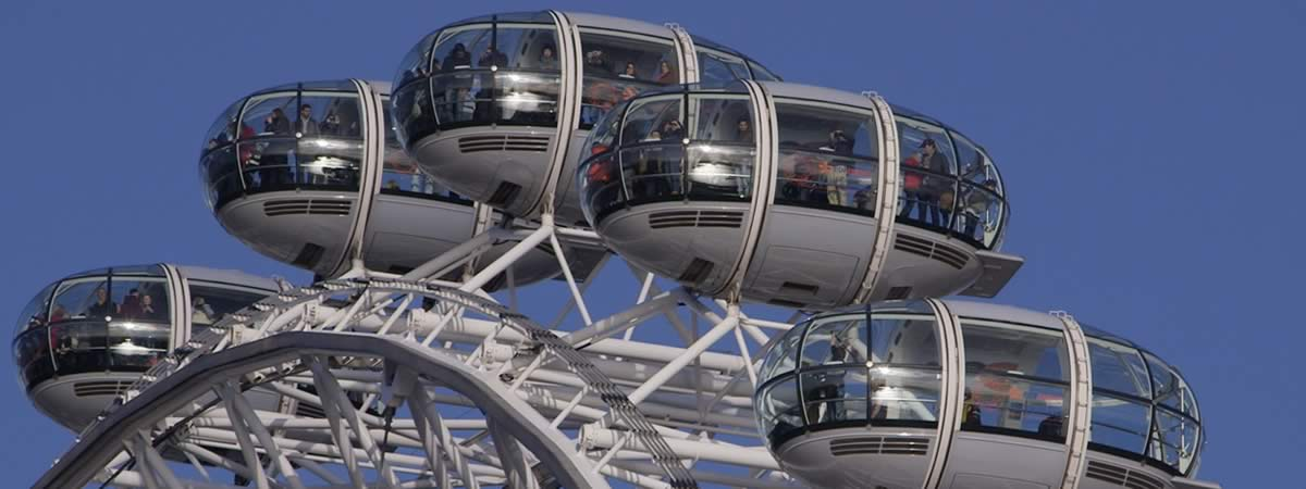 London Eye pods from London Stock Footage